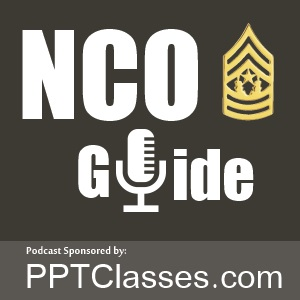 NCO Guide Podcast logo | Platoon Leader