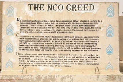 NCO Creed SNAFU – The NCO Guide