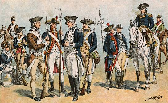 revolutionary-war-soldiers_4 US Army NCO Corps formed