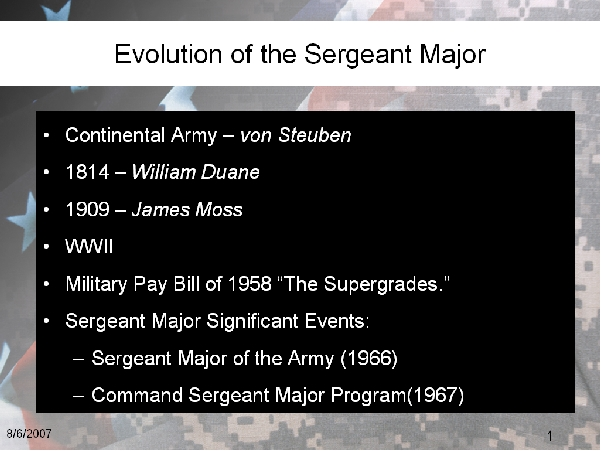 The Changing Role of the Command Sergeant Major — The NCO Guide