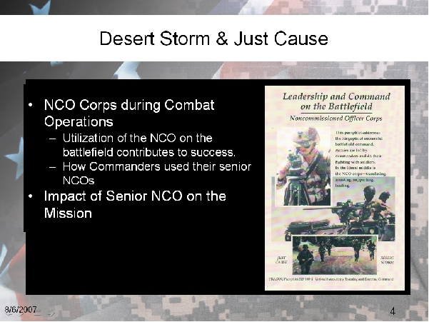 Desert Storm & Just Cause