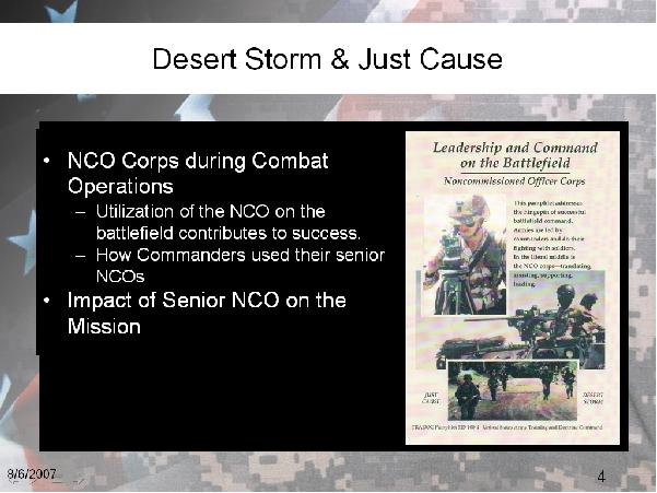 Desert Storm & Just Cause