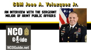Interview with the Sergeant Major of Army Public Affairs