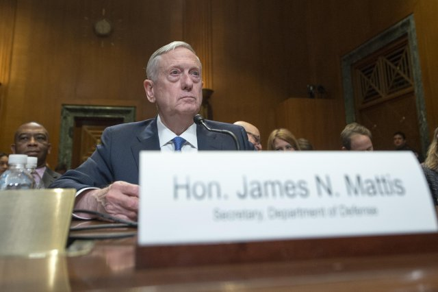 James N Mattis in court because of excessive training