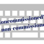 Inconsistency of writing non-commissioned officer versus noncommissioned officer