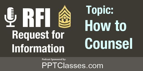 RFI: How to Counsel?
